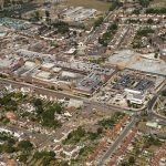 Aerial photograph of The Broadway Shopping Centre