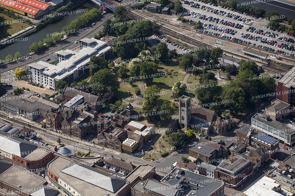 Aerial photograph of Benchley Gardens & Museum