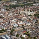 Aerial photograph of Canterbury Cathedral