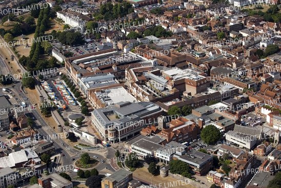 Aerial photograph of Canterbury City Centre