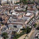 Aerial photograph of Canterbury City Centre