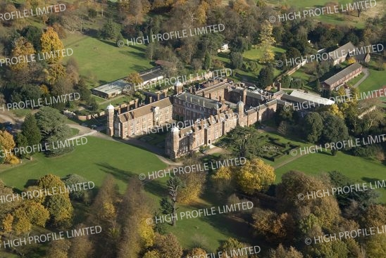 Aerial photograph of Cobham Hall