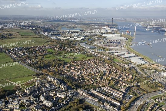Aerial photograph of Greenhithe