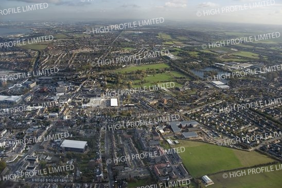 Aerial photograph of Dartford Town Centre
