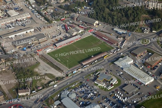 Aerial photograph of Ebbsfleet United's ground Stonebridge Road