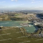 Aerial photograph of Ebbsfleet Garden City