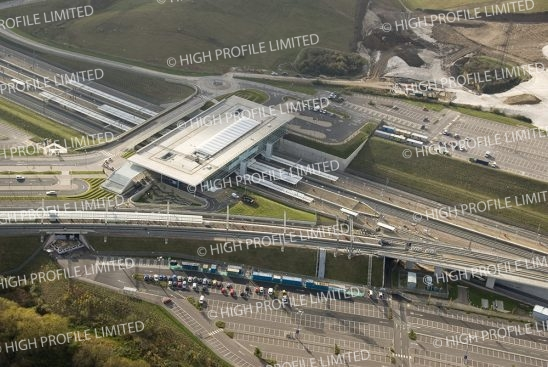 Aerial photograph of Ebbsfleet International