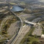 Aerial photograph of Ebbsfleet International Station