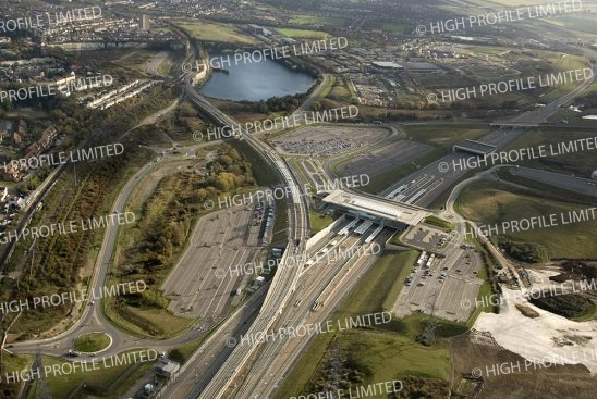 Aerial photograph of Ebbsfleet International Station