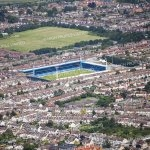 Aerial photograph of Priestfield Stadium