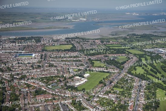 Aerial photograph of Gillingham
