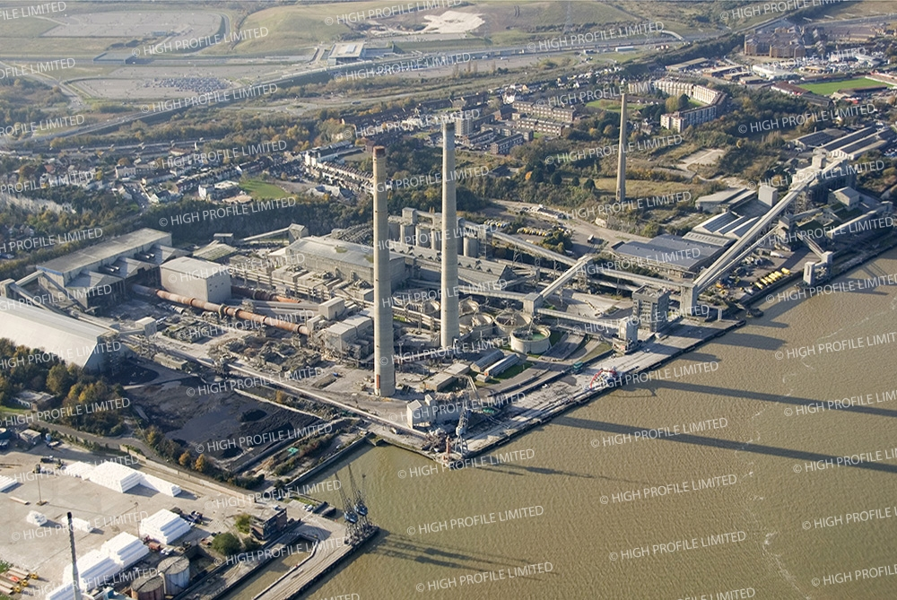 Aerial photograph of Northfleet Cement Works