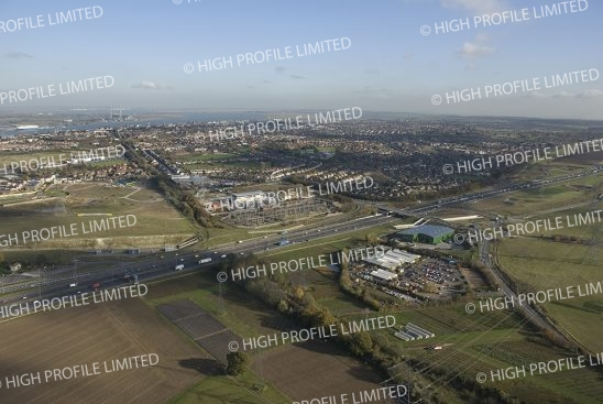 Aerial photograph of Pepperhill in Gravesend