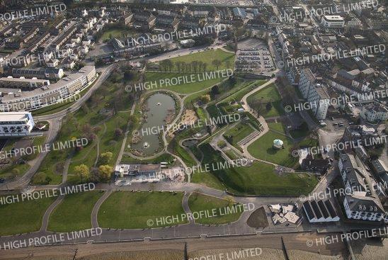 Aerial photograph of Gravesend Promenade