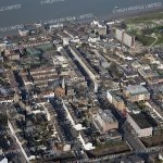 Aerial photograph of Gravesend Town