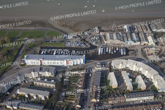 Aerial photograph of the Canal Basin developments