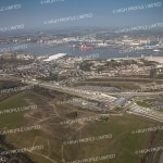 Aerial photograph of Ebbsfleet and Tibury Docks