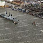 Aerial photograph of HMS Duncan