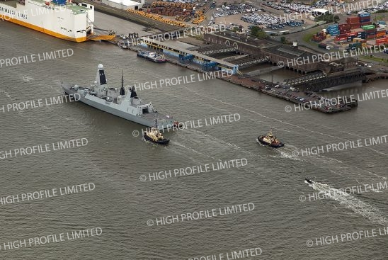Aerial photograph of HMS Duncan