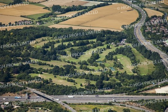 Aerial photograph of Cobtree Manor Park Golf Club