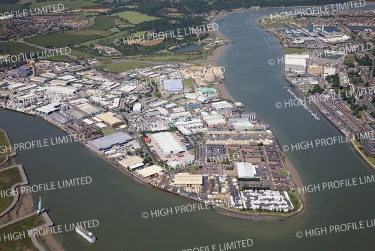 Aerial photograph of Medway City Estate