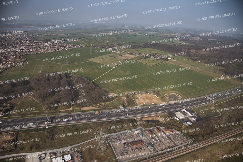 Aerial photograph of the proposed new Thames Crossing route