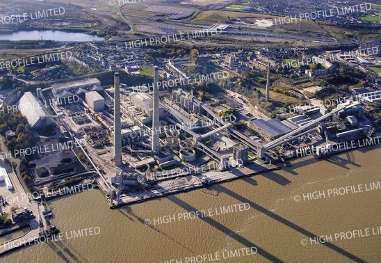 Aerial photograph of Northfleet Cement Works