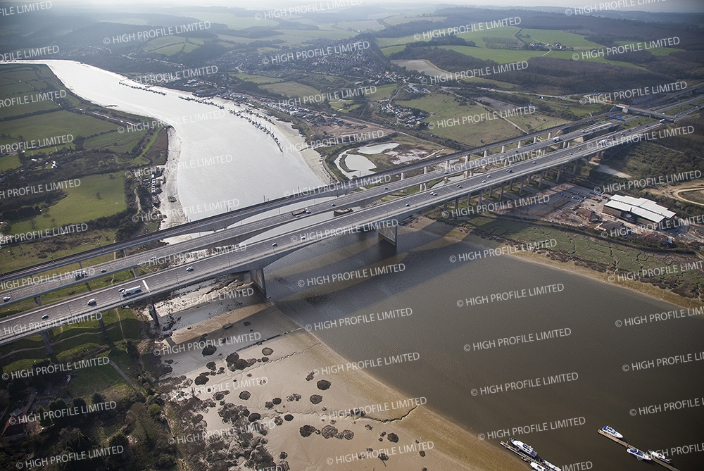 Aerial photograph of the Medway Bridge/Viaduct
