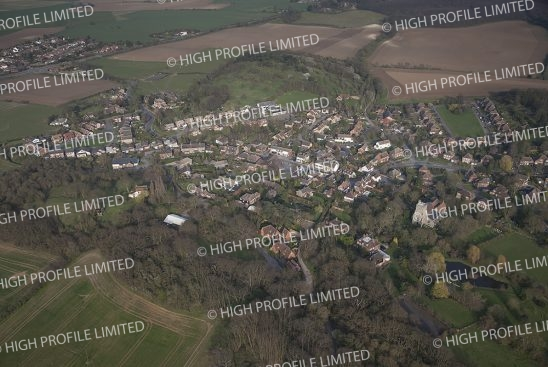 Aerial photograph of Shorne Village