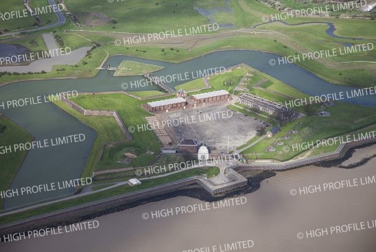 Aerial photograph of Tilbury Fort in Essex