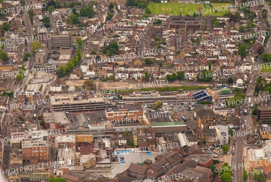 Aerial photograph of Rathmore Road in Gravesend